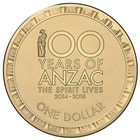 100 years of Anzac Circ Coin