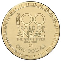 100 Years of Anzac Aus Counterstamp