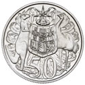 Australian Fifty Cent Round - Reverse