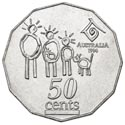 Australian Fifty Cent - International Year of Family