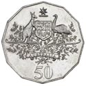 Australian Fifty Cent - Centenary of Federation Reverse