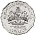 Australian Fifty Cent - Centenary of Federation ACT