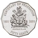 Australian Fifty Cent - Centenary of Federation NI