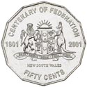 Australian Fifty Cent - Centenary of Federation NSW