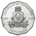 Australian Fifty Cent - Centenary of Federation SA