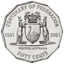 Australian Fifty Cent - Centenary of Federation WA