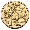 Australian One Dollar - Mob of Roos Reverse