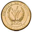 Australian One Dollar - International Year of Volunteers Reverse