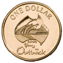 Australian One Dollar - Year of the Outback Reverse