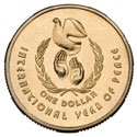Australian One Dollar - International Year of Peace Reverse