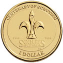 Australian One Dollar - Centenary of Scouting Reverse
