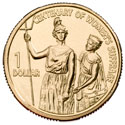 Australian One Dollar - Centenary of Women's Suffrage Reverse