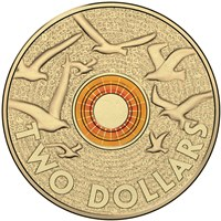 Australian Two Dollar - Remembrance Day Flanders Field Reverse