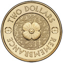 Australian Two Dollar - Remembrance Day Poppy