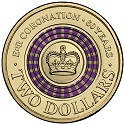 Australian Two Dollar - Diamond Jubilee QEII Reverse