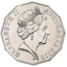 Gottwald's obverse design on the 2000 50c coin