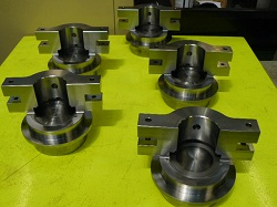 Groupd of large CNC machined components