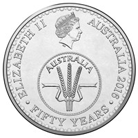 2016 10c Circulating Coin 50th Anniversary Of Decimal Currency Obverse