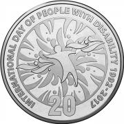 2017 20c International Day of People with Disability Unc Coin Reverse