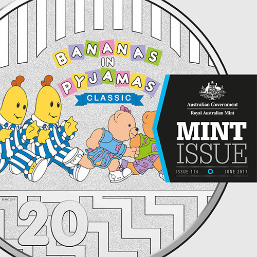 Image of mint issue cover showing Bananas in Pyjamas 25th Aniversary