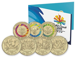 2018 Commonwealth Games 7 Coin Collection
