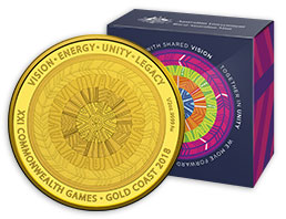 2018 Commonwealth Games Gold Coin
