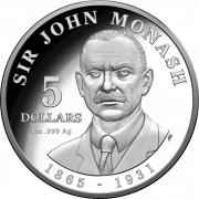 2018 $5 Silver Proof Sir John Monash Coin