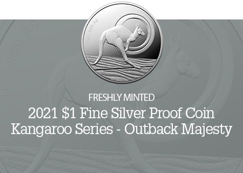 2021 $1 Outback Majesty Fine Silver Coin