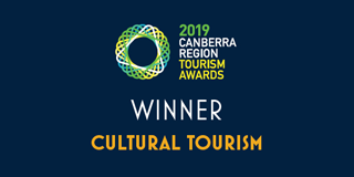 2019 Canberra Region Tourism Awards 2019 Winner - Cultural Tourism