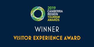 2019 Canberra Region Tourism Awards 2019 Winner - Visitor Experience Award