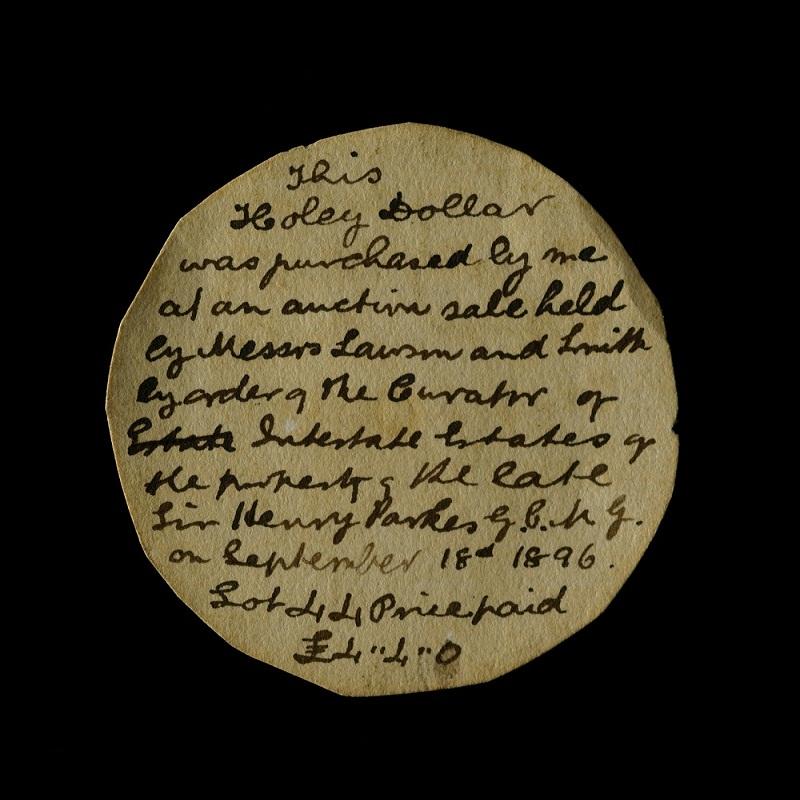 Henry Parkes Note