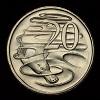 Australian 20c coin