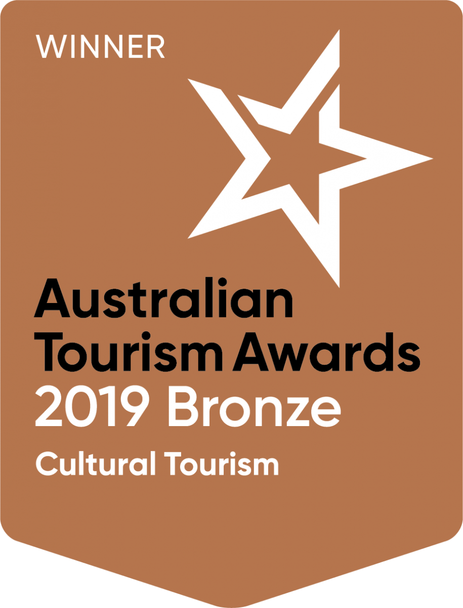 2019 Australian Tourism Awards 2019 Winner of Bronze - Cultural Tourism