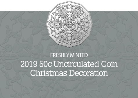 2019 50c Uncirculated Coin - Christmas Decoration