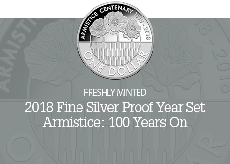 2018 Fine Silver 6 Coin Proof Year Set