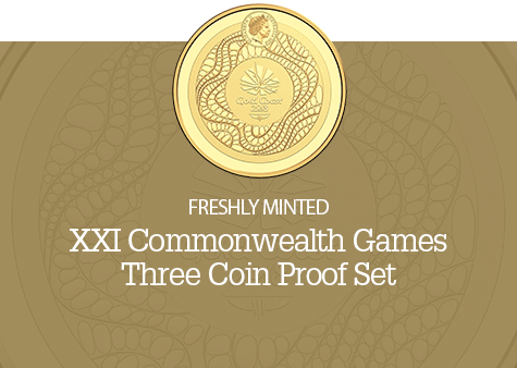 XXI Commonwealth Games - Three Coin Proof Set