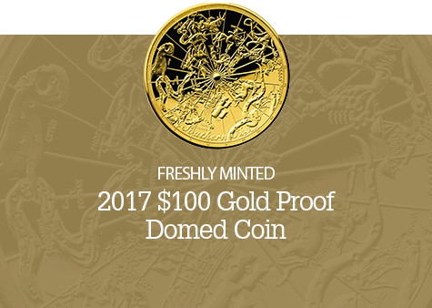 Image of Celestial Dome - Northern Sky gold coin.
