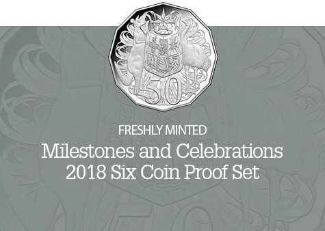 2018 Six Coin Proof Set with engraving plate