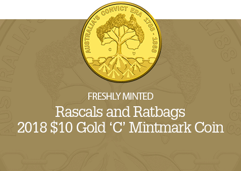 2018 $10 Gold Proof 'C' Mintmark Coin - Rascals and Ratbags