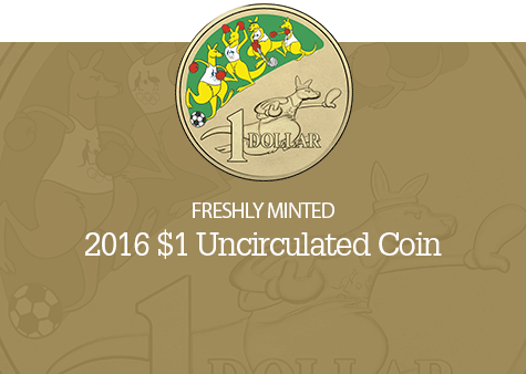 2016 $1 Coloured Uncirculated Coin