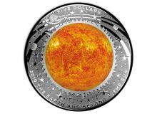 2019 $5 Coloured Fine Silver Proof Domed Coin The Earth & Beyond - The Moon