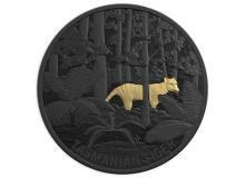 2019 $5 Selectively Gold Plated Fine Silver Proof Coin - Extinct Australian Animals-Tasmanian Tiger