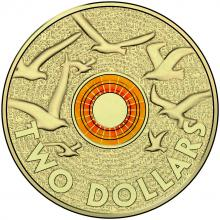 2015 $2 Coloured Circulating Coin - Remembrance Day