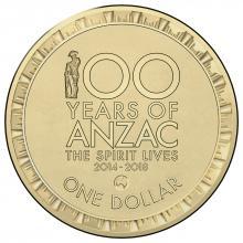 2015 $1 Circulating Coin - 100 Years of Anzac