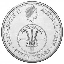 2016 10c Circulating Coin - 50th anniversary of decimal currency