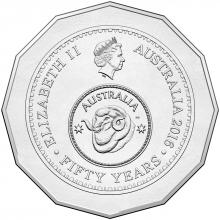 2016 50c Circulating Coin - 50th anniversary of decimal currency