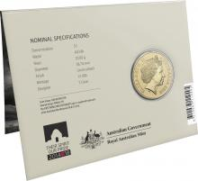 2016 $5 Uncirculated Coin - Packaging back
