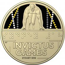 2018 $1 Coloured Frosted Unc Coin – Invictus Games 2018 Sydney