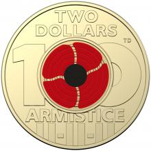 2018 $2 Remembrance Coin