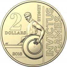 2018 $2 Circulating Invictus Games Coin